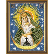 """Ткань с рисунком для вышивки бисером Nova sloboda """"Богородица Остробрамская"""""""