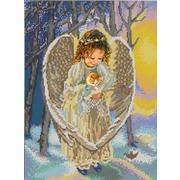 """Ткань с рисунком для вышивки бисером Конёк """"Ангел"""""""
