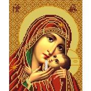 """Ткань с рисунком для вышивки бисером Конёк """"Богородица Касперовская"""""""