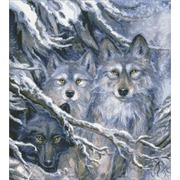 """Набор для выкладывания мозаики Паутинка """"Волки"""""""