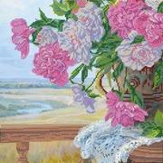 """Ткань с рисунком для вышивки бисером Абрис Арт """"Любимые цветы"""""""
