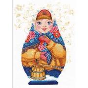 """Набор для вышивания крестом Алиса """"Матрешки. Зимняя краса"""""""