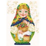 """Набор для вышивания крестом Алиса """"Матрешки. Летняя краса"""""""