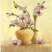 """Ткань с рисунком для вышивки бисером Конёк """"Орхидея"""""""