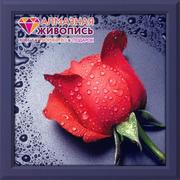 """Набор для выкладывания мозаики Алмазная живопись """"Красная роза"""""""