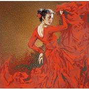 """Ткань с рисунком для вышивки бисером Конёк """"Фламенко"""""""