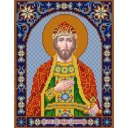 """Ткань с рисунком для вышивки бисером Конёк """"Святой Борис"""""""