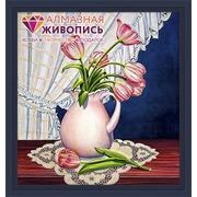 """Набор для выкладывания мозаики Алмазная живопись """"Тюльпаны у окна"""""""