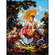 """Канва с нанесенным рисунком Gobelin-L """"Дама с зонтиком"""""""