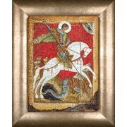 """Набор для вышивания крестом Thea Gouverneur """"Чудо Георгия о змие (Георгий Победоносец)"""""""