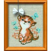 """Набор для вышивания крестом Риолис """"Котёнок с бантиком"""""""