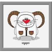 """Набор для вышивания крестом Овен """"Кошачий гороскоп. Козерог"""""""