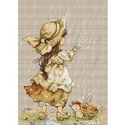 """Набор для вышивания крестом Luca-S """"Летний дождь"""""""