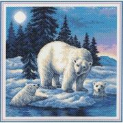"""Канва/ткань с нанесенным рисунком Матрёнин посад """"Белые медведи"""""""
