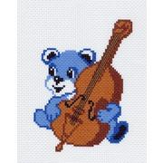 """Канва с нанесенным рисунком Матрёнин посад """"Мишка со скрипкой"""""""