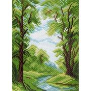 """Канва с нанесенным рисунком Матрёнин посад """"Река в лесу"""""""