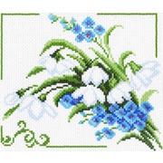 """Канва с нанесенным рисунком Матрёнин посад """"Весенние цветы"""""""