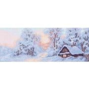"Канва с нанесенным рисунком Матрёнин посад ""Морозное утро"""