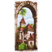"""Канва/ткань с нанесенным рисунком Матрёнин посад """"Крыши старого города"""""""