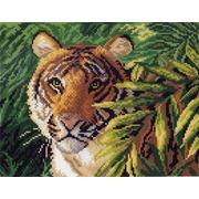 """Канва с нанесенным рисунком Матрёнин посад """"Тигр в зарослях"""""""