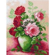 """Канва с нанесенным рисунком Матрёнин посад """"Цветы в вазе"""""""