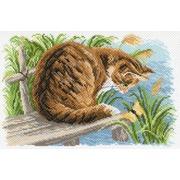 """Канва с нанесенным рисунком Матрёнин посад """"Любопытный котенок"""""""