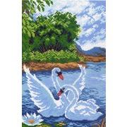 """Канва с нанесенным рисунком Матрёнин посад """"Два лебедя"""""""