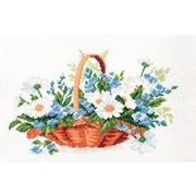 """Канва с нанесенным рисунком Матрёнин посад """"Полевые цветы"""""""