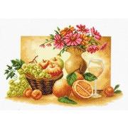"Канва/ткань с нанесенным рисунком Матрёнин посад ""Оранжевый натюрморт"""