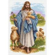 """Канва с нанесенным рисунком Матрёнин посад """"Иисус с барашком"""""""
