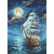 """Канва с нанесенным рисунком Матрёнин посад """"Ночной морской пейзаж"""""""