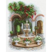 """Канва с нанесенным рисунком Матрёнин посад """"У прохладного фонтана"""""""