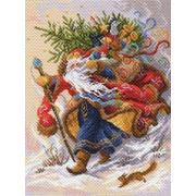 "Канва с нанесенным рисунком Матрёнин посад ""Дед Мороз"""