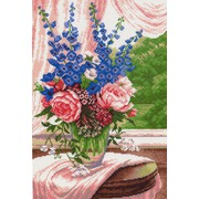 "Канва с нанесенным рисунком Матрёнин посад ""Цветы на окне"""