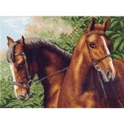 """Канва с нанесенным рисунком Матрёнин посад """"Две лошади"""""""