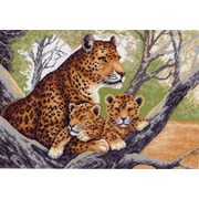 """Канва с нанесенным рисунком Матрёнин посад """"Леопарды на дереве"""""""