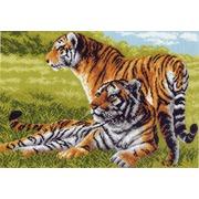 "Канва с нанесенным рисунком Матрёнин посад ""Тигры"""