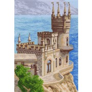 """Канва/ткань с нанесенным рисунком Матрёнин посад """"Ласточкино гнездо (Башня у моря)"""""""