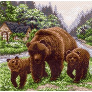 "Канва с нанесенным рисунком Матрёнин посад ""Медвежий угол"""