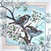 """Канва/ткань с нанесенным рисунком Матрёнин посад """"Птички"""""""