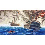 "Канва/ткань с нанесенным рисунком Gobelin-L ""Морская баталия"""