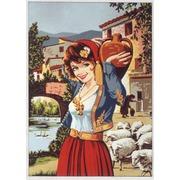 "Канва/ткань с нанесенным рисунком Gobelin-L ""Девушка с кувшином"""