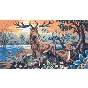 """Канва/ткань с нанесенным рисунком Gobelin-L """"Олень с олененком"""""""