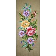 """Канва с нанесенным рисунком Gobelin-L """"Розы и анемоны"""""""