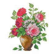 """Ткань с рисунком для вышивки бисером Матрёнин посад """"Розовый букет"""""""