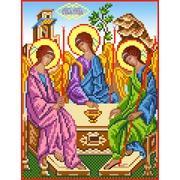 """Ткань с рисунком для вышивки бисером Матрёнин посад """"Святая Троица"""""""