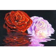 """Ткань с рисунком для вышивки бисером Матрёнин посад """"Две розы"""""""