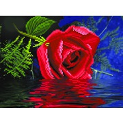 """Ткань с рисунком для вышивки бисером Матрёнин посад """"Роза"""""""