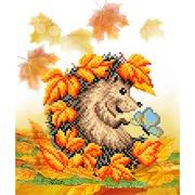 "Канва/ткань с нанесенным рисунком Матрёнин посад ""Осенняя встреча"""