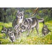 """Ткань с рисунком для вышивки бисером Матрёнин посад """"Волки"""""""